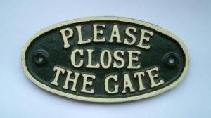 Shutting the gate